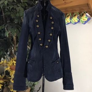 FREE PEOPLE navy cotton jacket